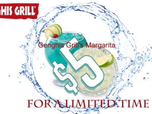 Genghisgrill's Margarita $5 for Limited Time