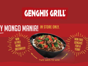 Genghisgrills Mongo Mania Sweepstakes Free Meal For A year