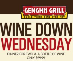 Dinner for 2 and a bottle of Wine is $29.99
