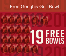 Genghis Gives 19 Free Bowls