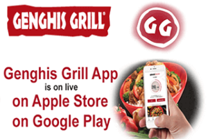 genghis grill app is on now