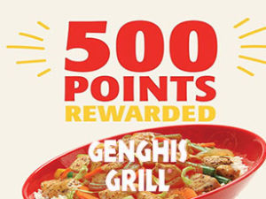 Genghis Grills 500 Points Giveaway