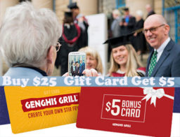 Buy a $25 Genghis Grill gift card get $5.