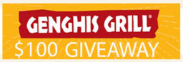 Genghis Grill $100 GIVEAWAY