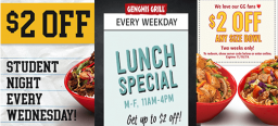 $2 OFF Any Size Genghis Grill Bowl!