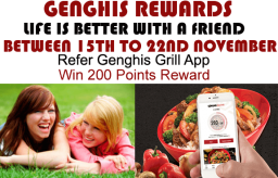 Refer the Genghis Grill App to Win 200 Points Reward